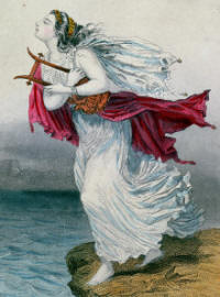 The Poetess Sappho Throwing Herself into the Sea Giclee Print by Henry Emy
