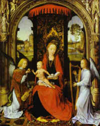 Hans Memling. Madonna and Child with Angels.